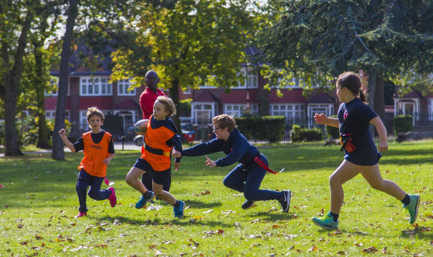 Maple Walk is increasingly successful at sport, particularly cross country running.  Pupils use the nearby green flag awarded Roundwood Park for some PE.  Tag rugby, hockey, netball, athletics and football are taught at Maple Walk school.
